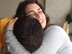 abrazo hijos